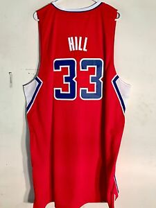 2056a12de1e0 Adidas Swingman NBA Jersey Los Angeles Clippers Grant Hill Red sz 2X ...