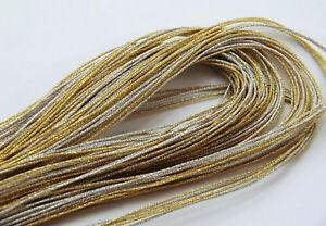 japanisches-Seidenband-Bicolor-5-straengig-925-Sterling-Silber-Verschluss-Neu