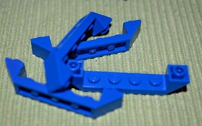 ~ 1x6 Black Double Inverted Slope Hull Brick ~ New Lego Bricks ~ 4