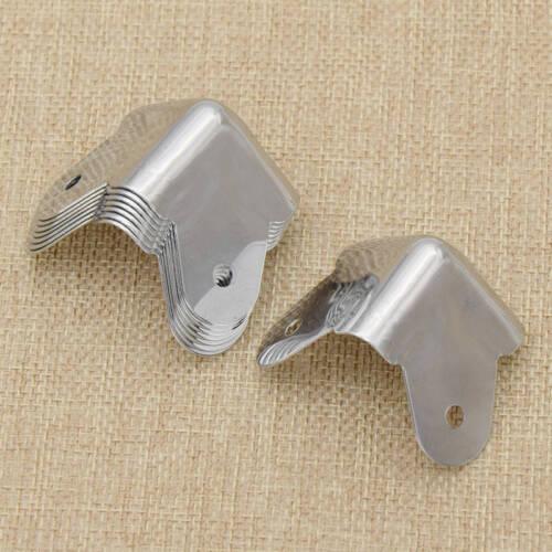 8x Silber Schrank Ecken Bohrung Verstärker Schutzecken Amplifier Cabinet Neu
