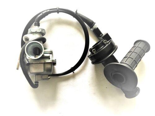 Carburetor /& Throttle Handle Grip Bar For Honda XR80 1979-1984  XR80R 1985-2004