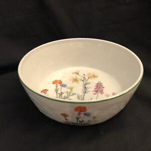 Philippe Deshoulieres Lourioux France Porcelain Floral Wild Flower Serving Bowl Ebay