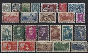 (lot 42) Timbres France N*/** 1900-1938 Bonne Cote