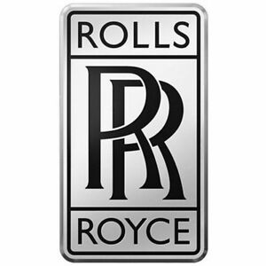 Rolls Royce Chrome And Black Radiator Logo Emblem Badge Ebay