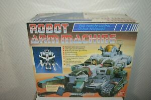 ANCIEN-ROBOT-ARM-MACHINE-BANDAI-TELEGUIDE-VINTAGE-1986