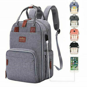 Luxury-Baby-Diaper-Bag-Nappy-Backpack-Waterproof-Mummy-Changing-Bag
