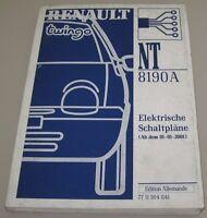 Werkstatthandbuch Elektrik Renault Twingo I elektrische Schaltpläne ab 01/2001!