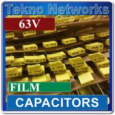10x Radial Film Capacitors 63v 1000pf 1uf