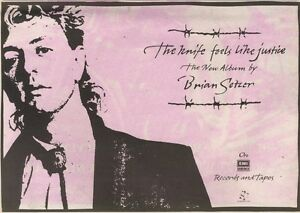 24-5-86PN34-ADVERT-THE-KNIFE-FEELS-LIKE-JUSTICE-BRIAN-SETZER-ALBUM-7X11