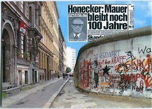 AK BERLIN Mauer Sebastianstraße KREUZBERG, Honecker-Worte 70/80er Ja.