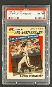 1987-K-Mart-32-Darryl-Strawberry-New-York-Mets-KMart-PSA-8-NM-MT-Only-12-Higher