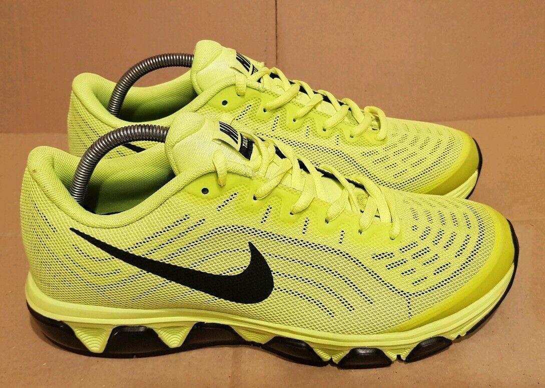 Nueva marca Nike viento en cola Air Air Air Max Zapatillas Negro y Volt Suela de Aire Lima Talla 7.5 Reino Unido  gran descuento