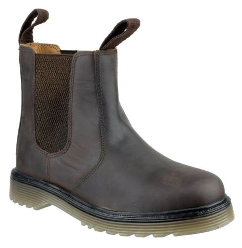 Amblers Chelmsford brown leather air-cushion pvc sole soft-toe dealer boot