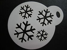 Laser cut small snowflake ice pattern design cake,craft & face painting stencil