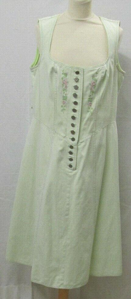 Damen Trachten Kleid hellgrün mit Motiv Gr. 42 von Alphorn