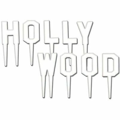 5cm Hollywood Picks -  Hollywood Movie Party Food Picks - Cake Decorations