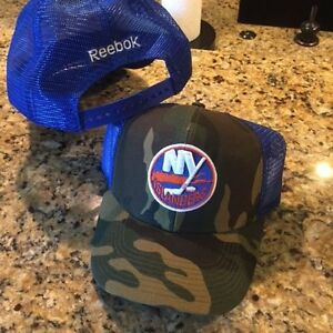 competitive price fdee0 9ba4a Image is loading New-York-Islanders-NY-N-Y-camo-trucker-hat-