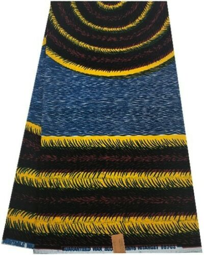 100/% algodón África Ankara Cera Tela de la impresión 6 yardas-Espiral de impresión