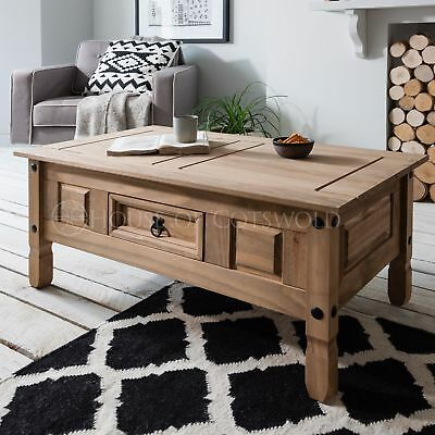 Wooden Coffee Table Corona Mexican Pine
