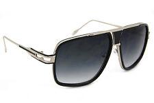 4a8d35c8615d0 Designer Oversized Square Aviator Sunglasses Metal Bar Retro Frame Men  Fashion