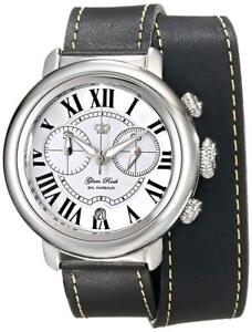 Glam-Rock-Womens-GR77138-Bal-Harbour-Analog-Display-Swiss-Quartz-Black-Watch-New