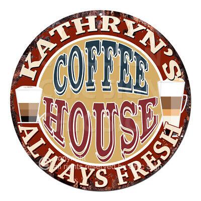 CPCH-0042 CAROLYN/'S COFFEE HOUSE Chic Tin Sign Decor Gift Ideas