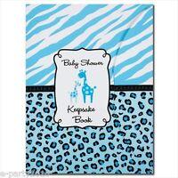 Sweet Safari Boy Keepsake Book Baby Shower Party Supplies Favors Animal Print