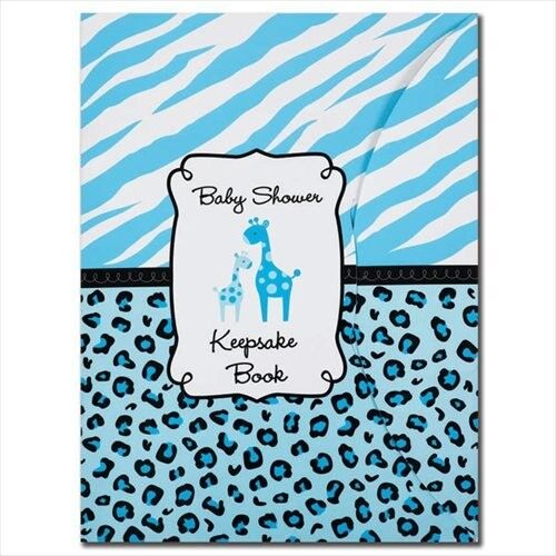 SWEET SAFARI BOY KEEPSAKE BOOK ~ Baby Shower Party Supplies Favors Animal Print