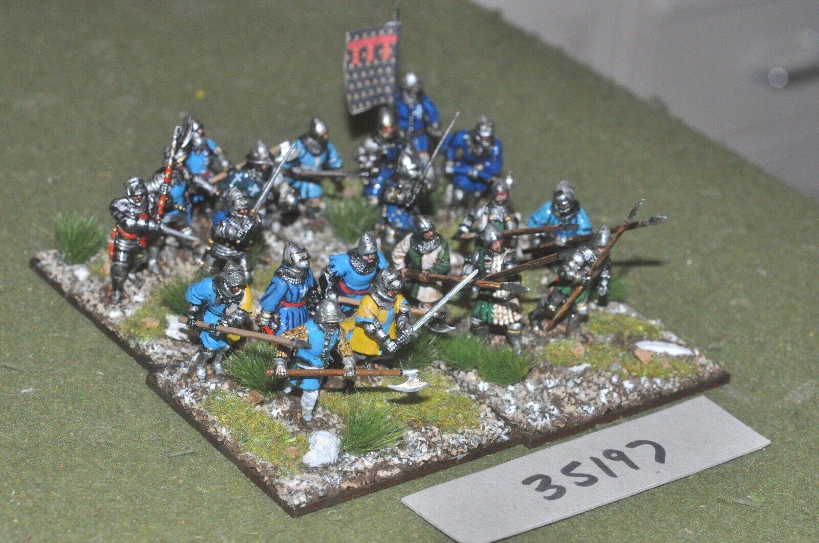 Médiévale 25 mm Bourguignon-MEN AT ARMS (plastique) 20 figures-INF (35197)