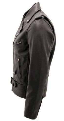 da motociclista Giacca elegante Brando uomo pelle casual da in nera Zaax0qB