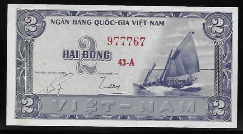 South Vietnam P-12 2 Dong 1955 Unc