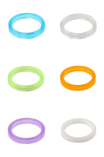 """One23 Bike Headset Spacer 1 1//8/"""" 28.6mm Polycarbonate 5mm with Choice of Colour"""