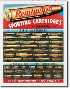Remington-For-Rifles-amp-Pistols-Ammo-Distressed-Vintage-Ad-Metal-Tin-Sign