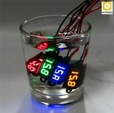 Voltmeter Mini Digital Led Waterproof 12v Car Moto Range Dc 350 300v Ammeter