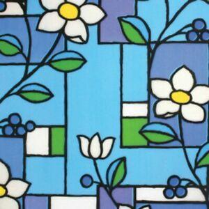 Pellicola Privacy effetto colorato fiori per Finestre Vetri Autoadesive Anti-UV