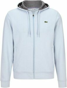 Lacoste-Sport-Men-039-s-2020-Hooded-Top-Fleece-Hoodie-White-Large-42-034-Chest