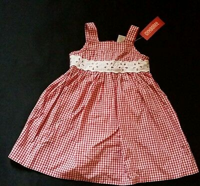 NWT Gymboree Little Strawberry 0-3 Months Red Seersucker Stripe Dress /& Socks