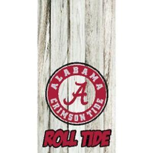 2 Alabama Crimson Tide stripe Cornhole Wraps FOOTBALL Pair of Board Decals