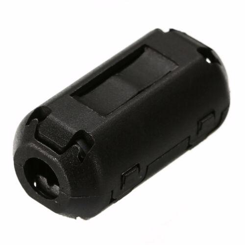 5pcd 3,5mm 7mm Schwarz Schalldämpfer EMI RFI Clip Choke Ferritkern Kabel Gut