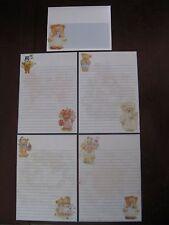 Mary's Bears STATIONARY set paper mini letterhead envelopes Mary Hamilton