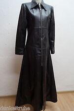 Damen Ledermantel Kunstleder schwarz Gothic Metal Black Pistol Gr.M