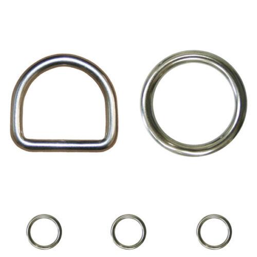 Anelli D-RING O-RING Anello in acciaio inossidabile Occhielli v4a occhielli a4 anello in acciaio inossidabile lucidato megafono