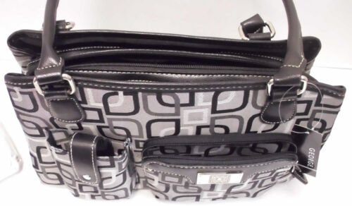 George Women/'s Jacquard Satchel Bag Charcoal
