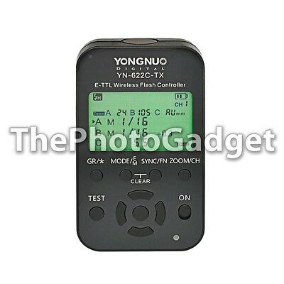 Yongnuo YN-622C-TX LCD Wireless e-TTL Flash Controller 1/8000s for Canon Cameras