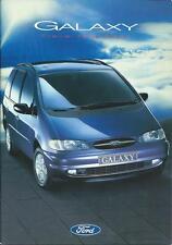 Ford Galaxy Range UK Brochure May 1995 inc 1.9 2.0 2.8 GLX Aspen Ultima Ghia