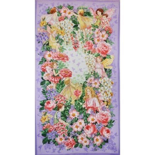Michael Miller Dreamland Flower Fairies DC6796 Blossom Panel Cotton Fab