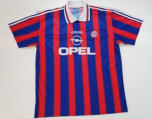 size 40 69150 f3d87 Details about Soccer Jersey Worn Shirt Old Vintage FC Bayern Munich Munchen  Adidas