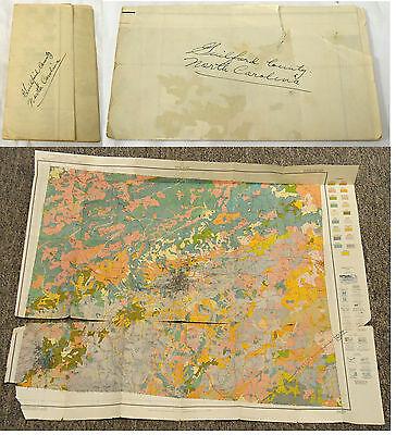 1839 NC MAP CASWELL CATAWBA CHATHAM CHEROKEE COUNTY North Carolina History HUGE