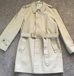 London Fog Maincoats Vintage Rain Trench Coat Mens 44 Long Ebay