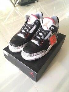big sale 723a3 1249f Details about Nike Air Jordan Retro 3 Black Cement Grey Size 9.5 DS